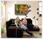 AY8001 3D hatású Tigrises falmatrica 100x70 cm, azonnal raktárról