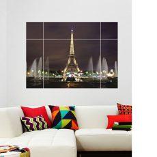 AY8014W Dekoratív Eiffel torony falmatrica 100x70 cm, azonnal raktárról