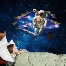 AY9264 3D hatású Űrhajós falmatrica 90x60 cm, azonnal raktárról