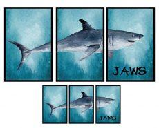 HM921012 Kék cápás falmatrica 90x60 cm, azonnal raktárról