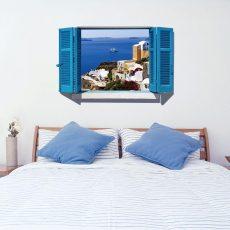 SK9059A Ablakos Kék tenger falmatrica 90x60 cm, azonnal raktárról