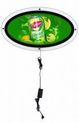 Slim LED  OVAL ovális világító plakátkeret 820x470 mm