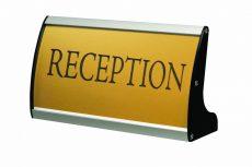 Desktop Sign asztali tábla 74x200