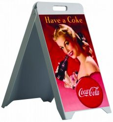 Plastic Ad Board Carry írható műanyag megállítótábla *