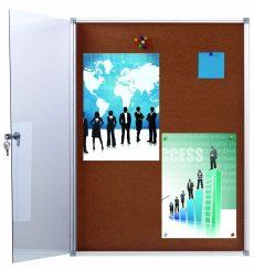 Office Cork Display 6xA/4 beltéri zárható parafa vitrin