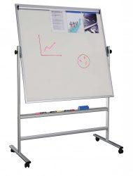 Flip-flop kétoldalas, forgatható, mágneses  írható tábla 1200x900 mm